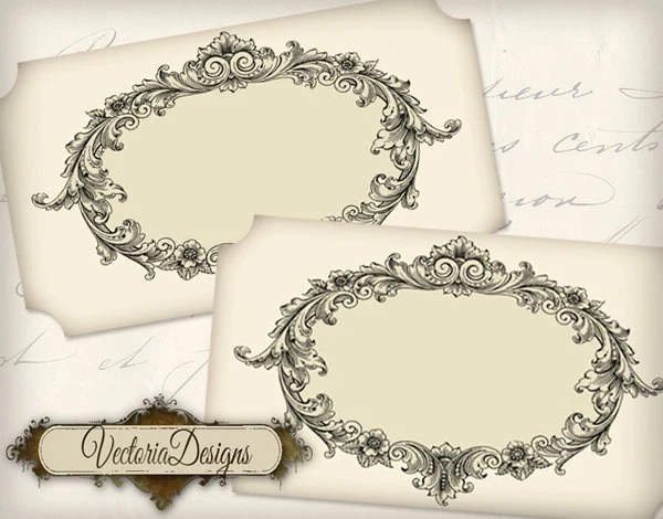 Blank Vintage Labels printable add text paper crafting organizing