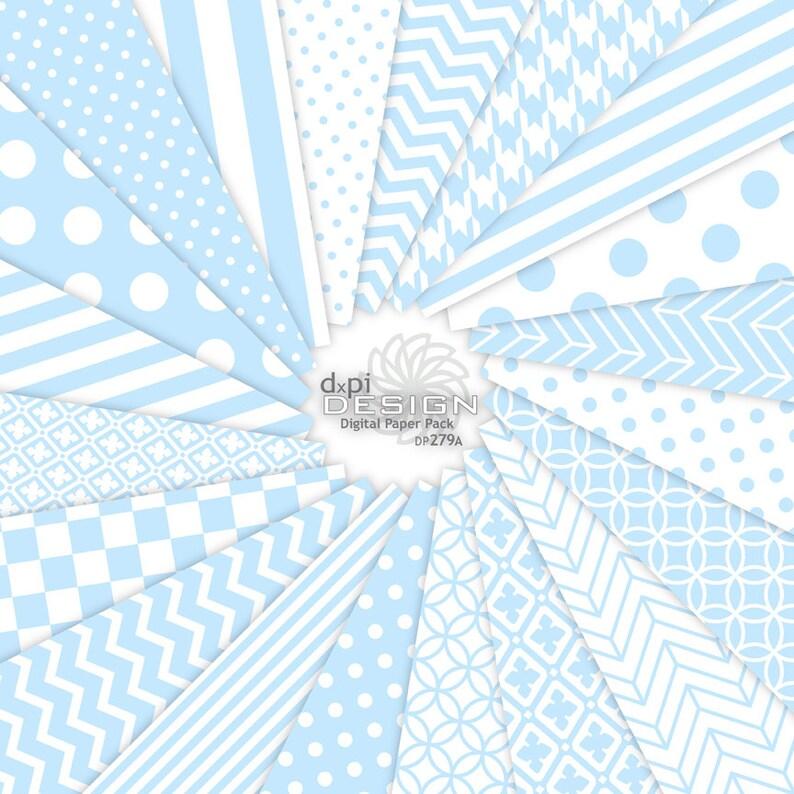 BABY BLUE Digital Paper  Printable Background Patterns Etsy