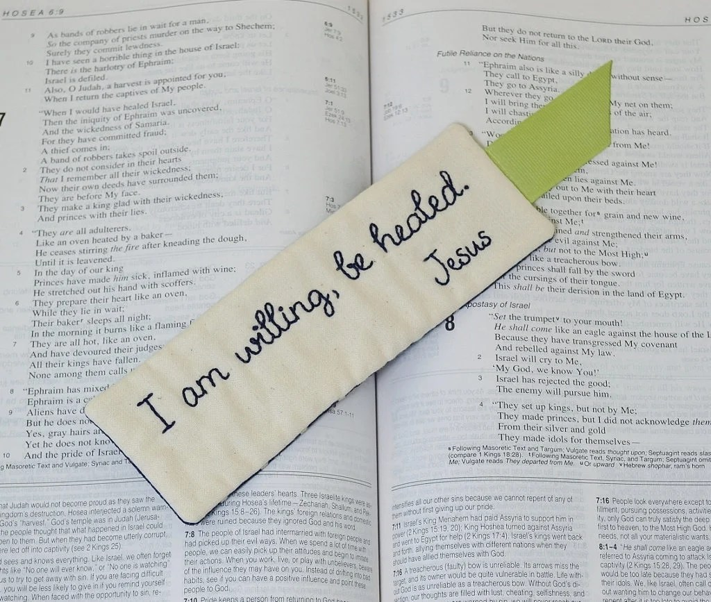 Christian Bookmark Religious Book Accessory I Am Willing Be Etsy