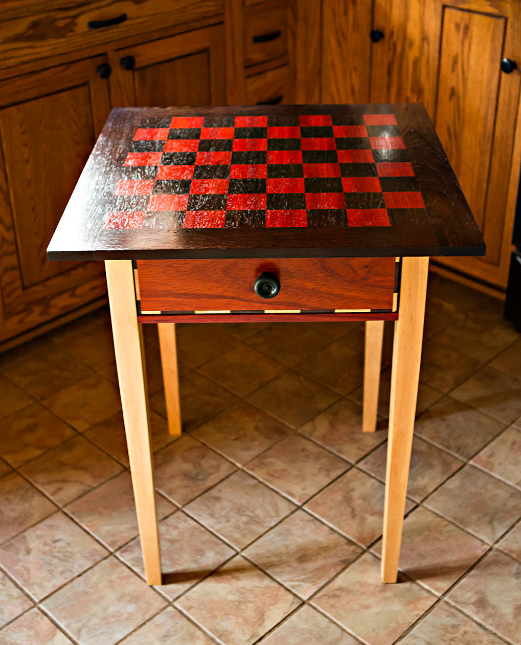 Chess Table Beautiful Exotic Wood Handcrafted Mission Chess Tables Checkers Table Handmade Custom Chess Table Chess Set Christmas Wedding Anniversary