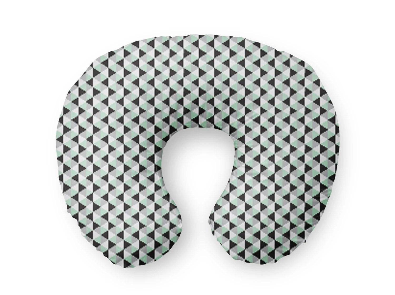 Nursing Pillow Cover Mint Grey Black Triangles Nursing Etsy