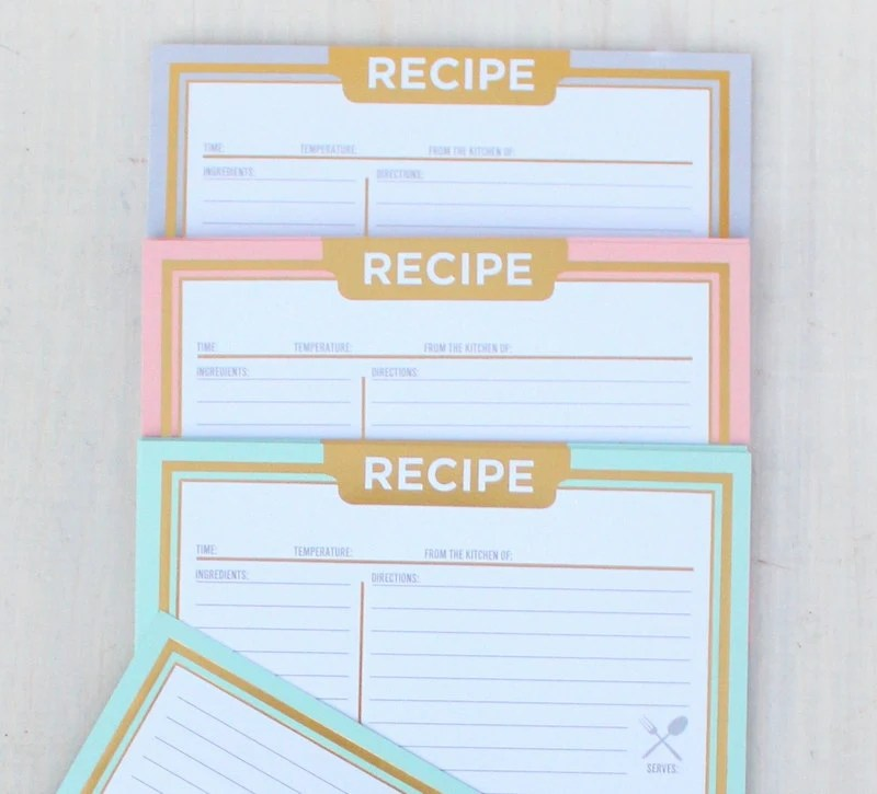 Recipe Cards, Rustic Recipe Cards, 4x6, Paper Recipe Cards, Blank