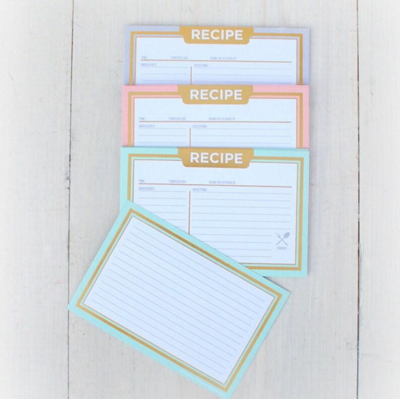 Recipe Cards Rustic Recipe Cards 4x6 Paper Recipe Cards Etsy