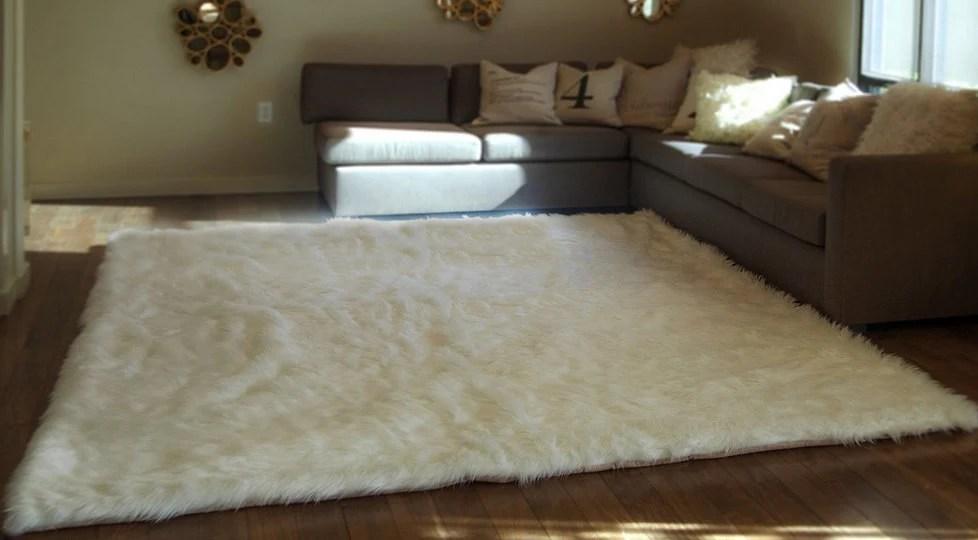 739 X 1039 New Premium Off White Shag Fur Area Rug Etsy