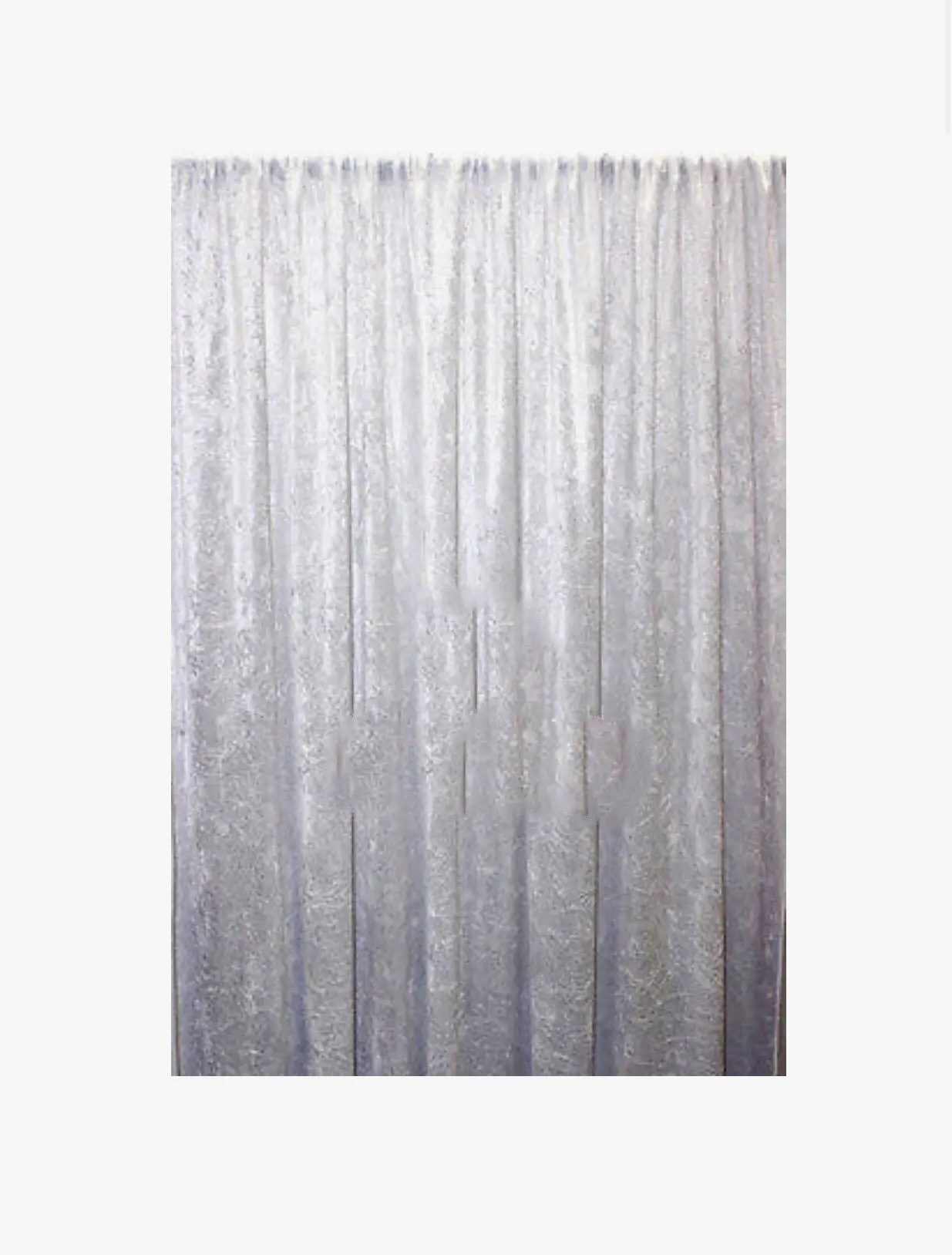 Draping Curtains Panne Velvet Crush Velour Curtain Drape Panel Backdrop Made In The Usa White