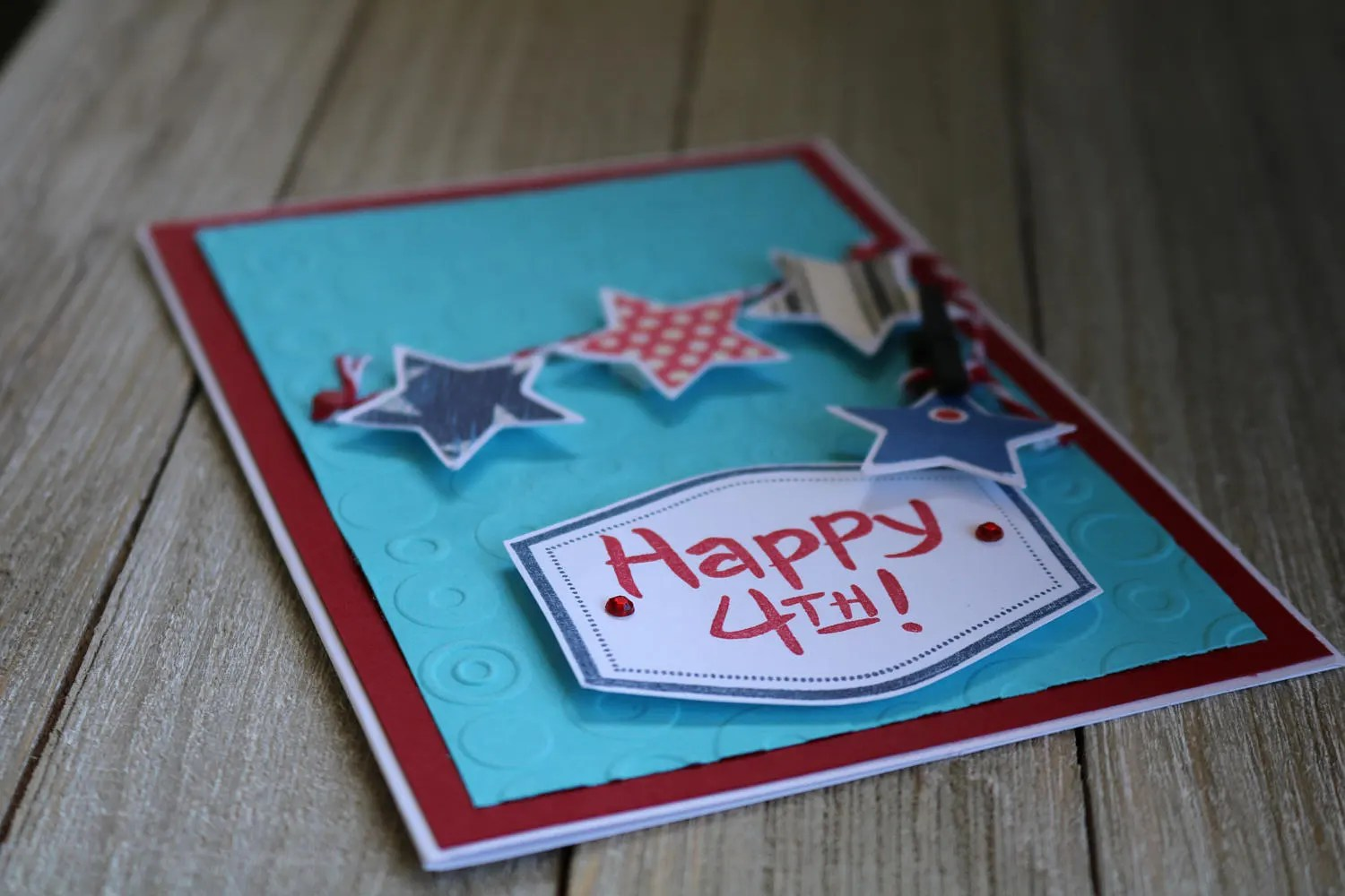 Happy Fourth Card Happy Fourth of July Independence Card Etsy