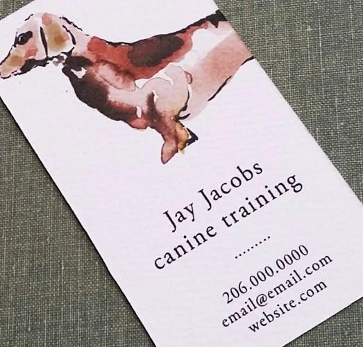 Dog Waker,Pet Sitter,Dog Trainer,Dachshund, Business Card Business