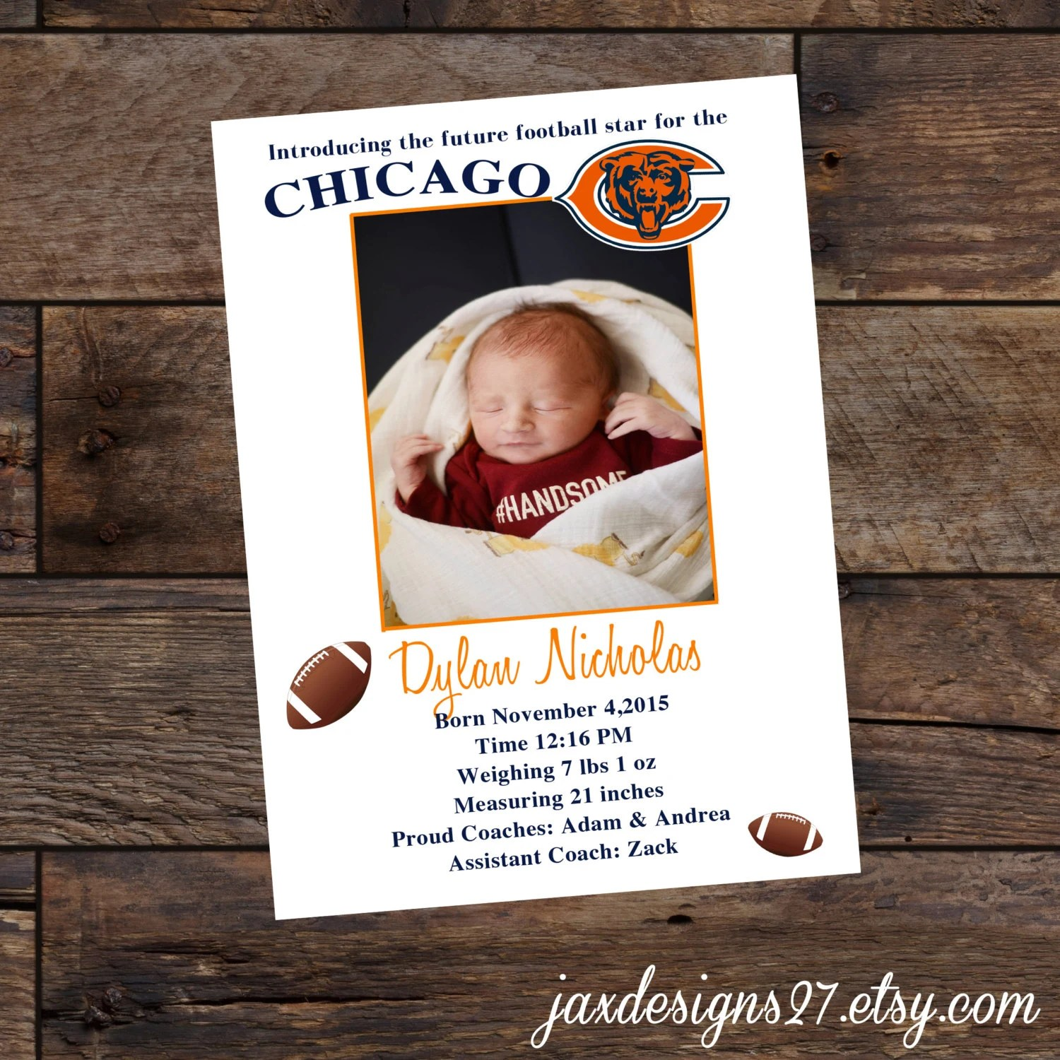 Baby Announcement Cards Birth Announcement Baby Boy Etsy