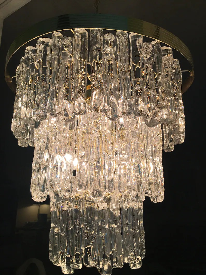 Modern Lighting Quotes Kalmar Style Lucite Chandelier So Cool Three Tier Chandelier 7 Lights 32 Prism Icicle Lucite Brass 7 X 2 3 4 Prisms Modern