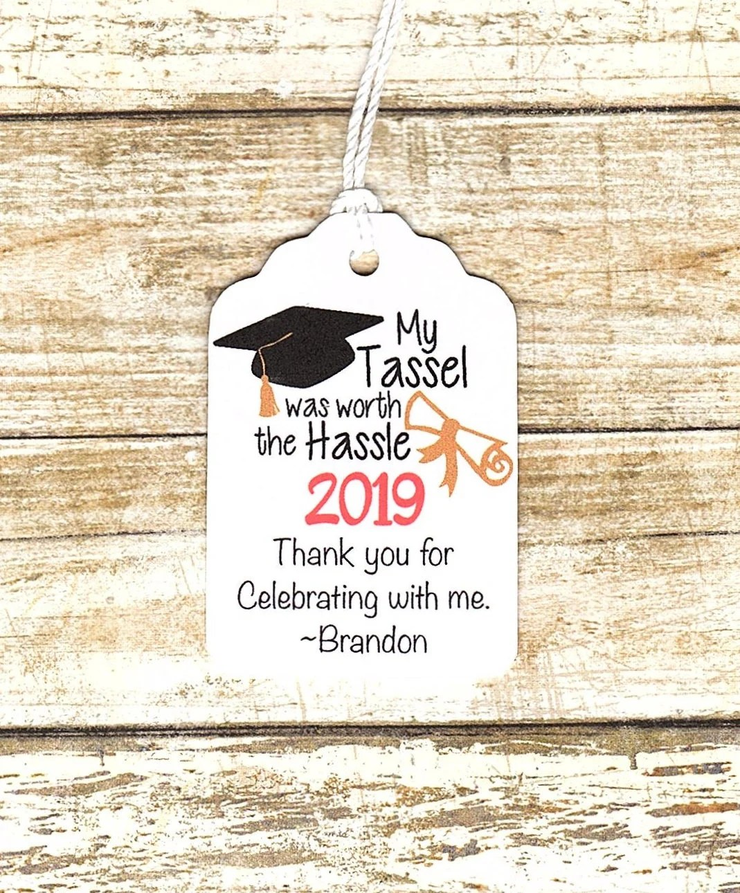 GRADUATION PERSONALIZED Thank you Graduation Favor tags Etsy