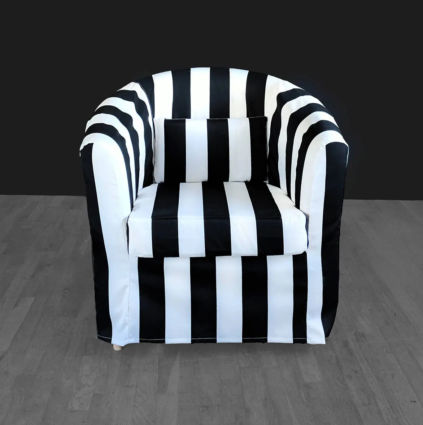 Ikea Black Chair Ikea Tullsta Chair Cover Black White Stripe French Style Summer
