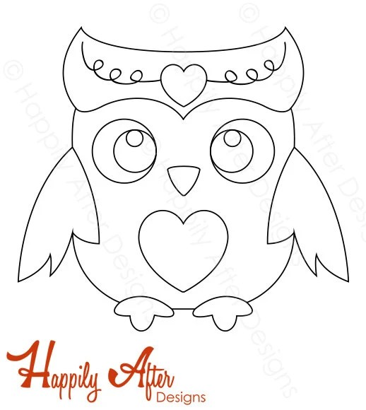 Owl Hand Embroidery Pattern owl pattern bird hand Etsy