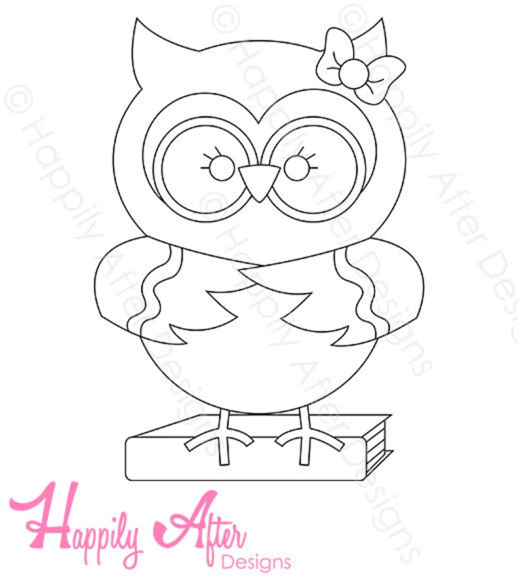 Girly Geek Owl Embroidery Pattern owl pattern owl design Etsy