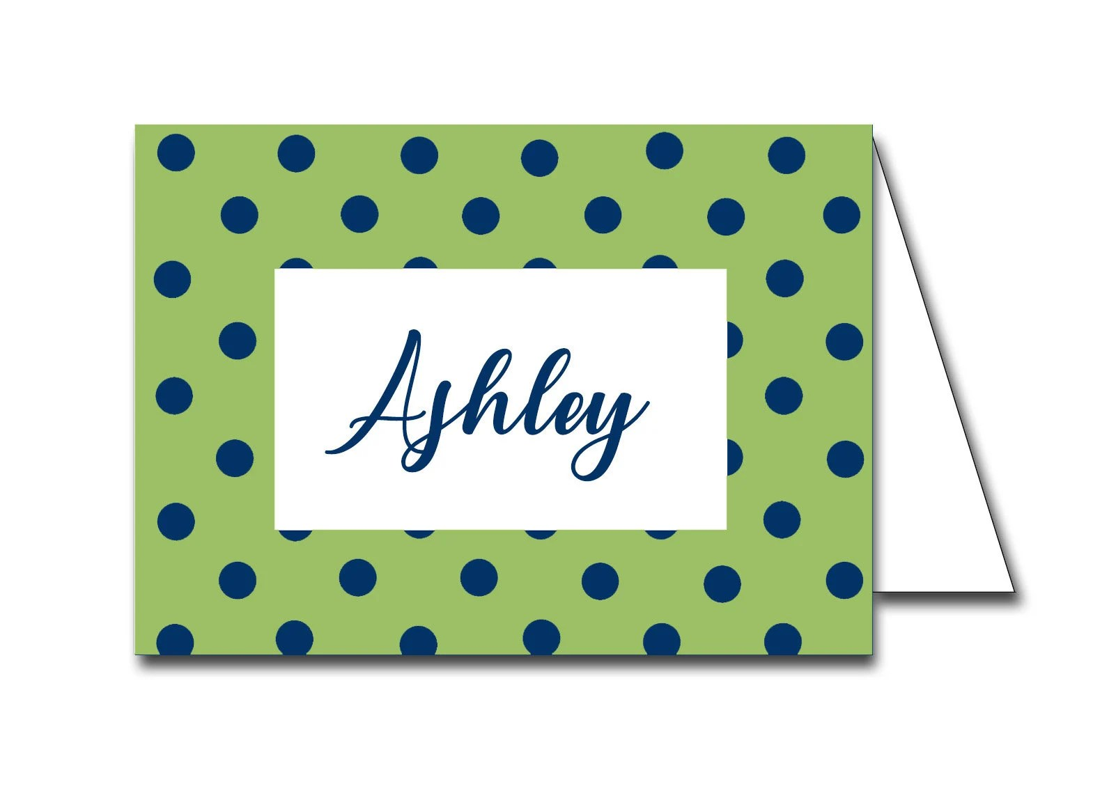 Instant Download Navy and Green Polka Dot Printable Place Etsy