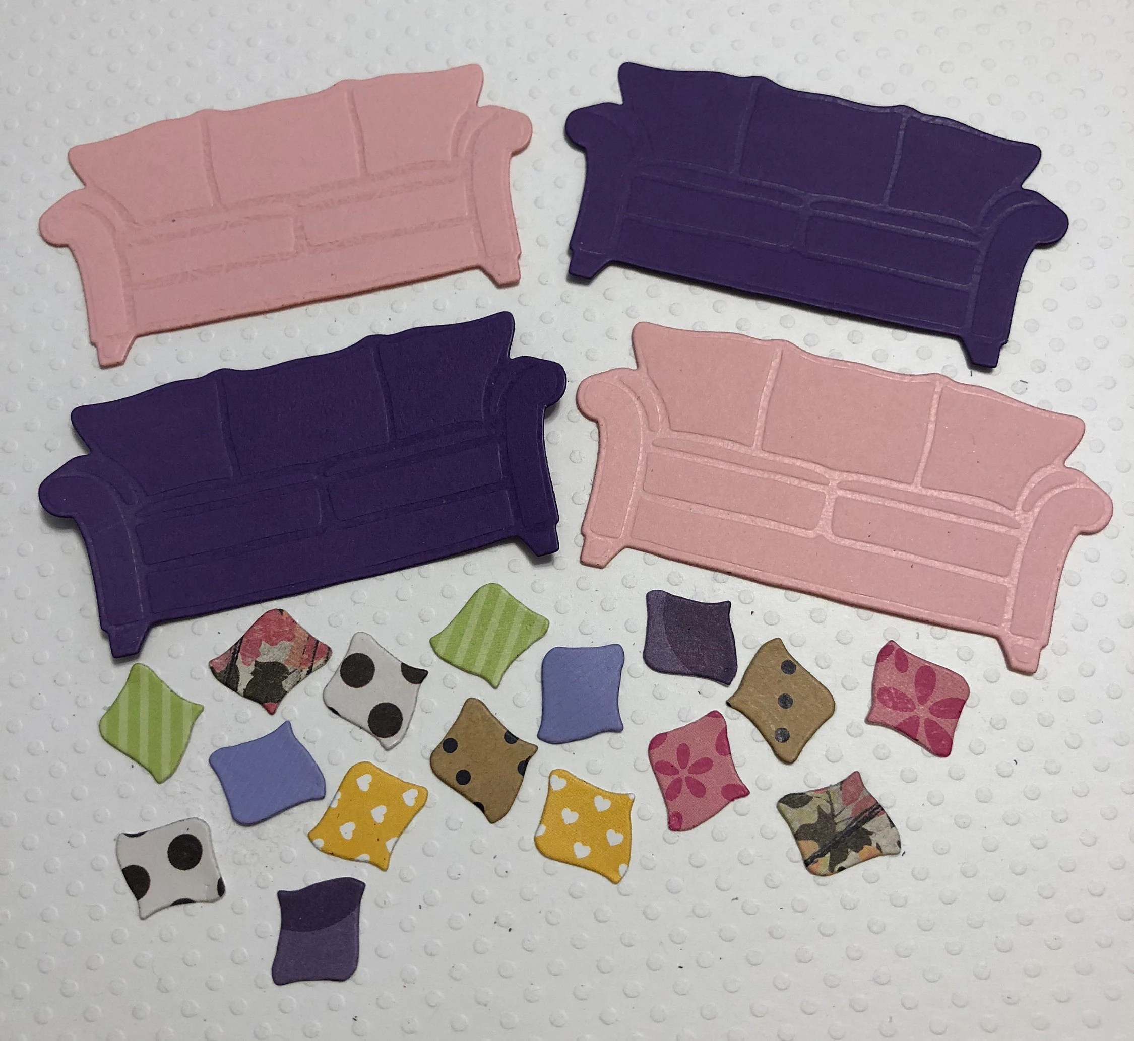 Couches 4 4 Couches 16 Pillows Handmade Pink Purple