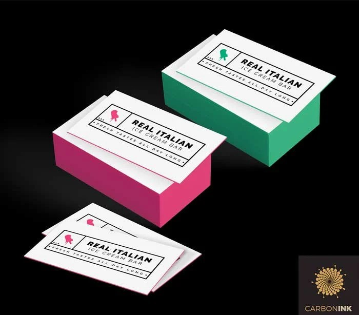 Painted Edge Business Cards Extra Thick Business Cards Etsy