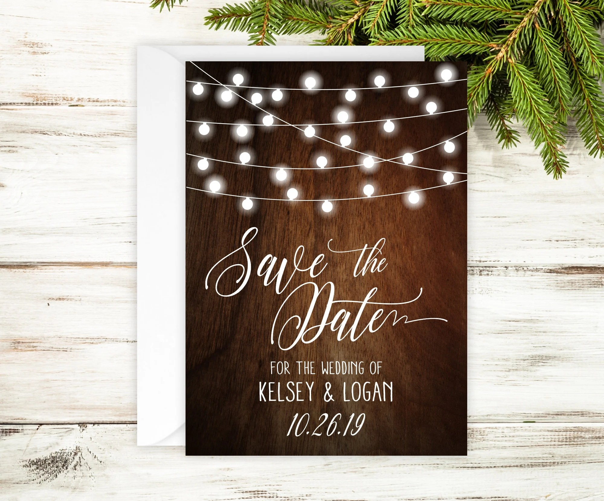 SAMPLE Rustic Save The Date Cards - 5\