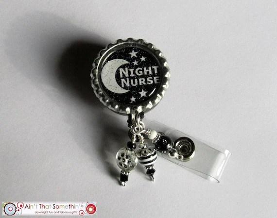 Night Nurse Retractable Badge Reel Nurse Id Holder Medical