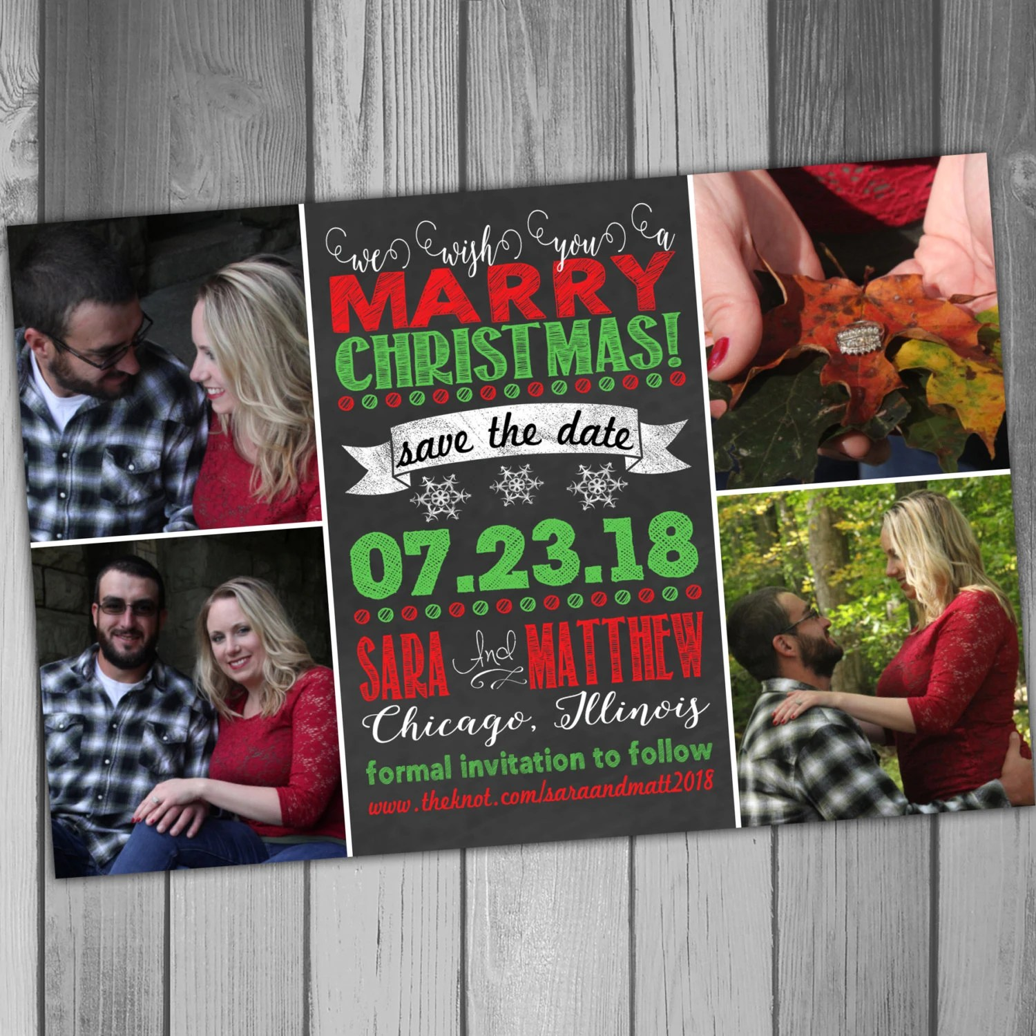 Christmas Save the Date Wedding Save the Date Photo Save The Date