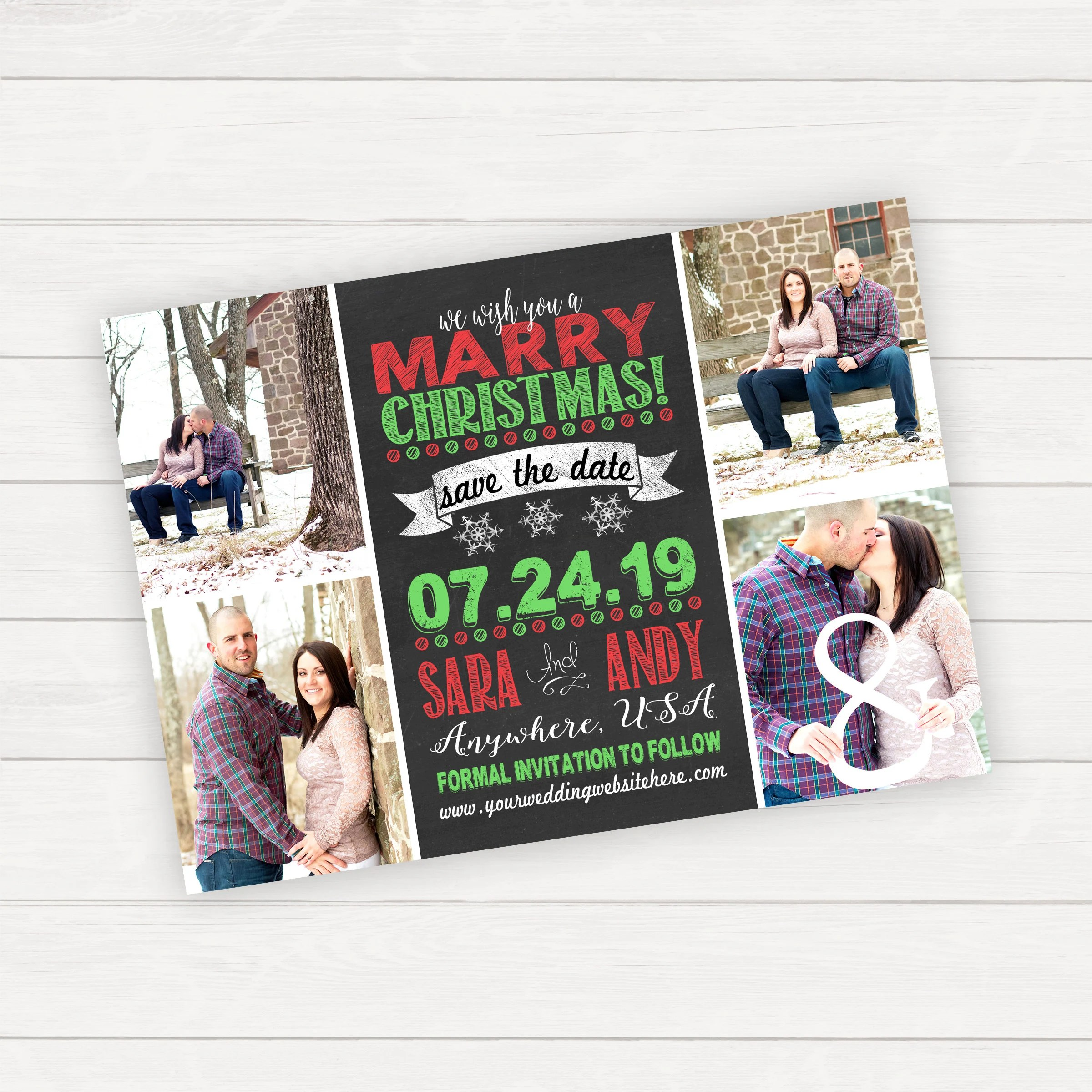 Christmas Save the Date Wedding Save the Date Photo Save The Etsy
