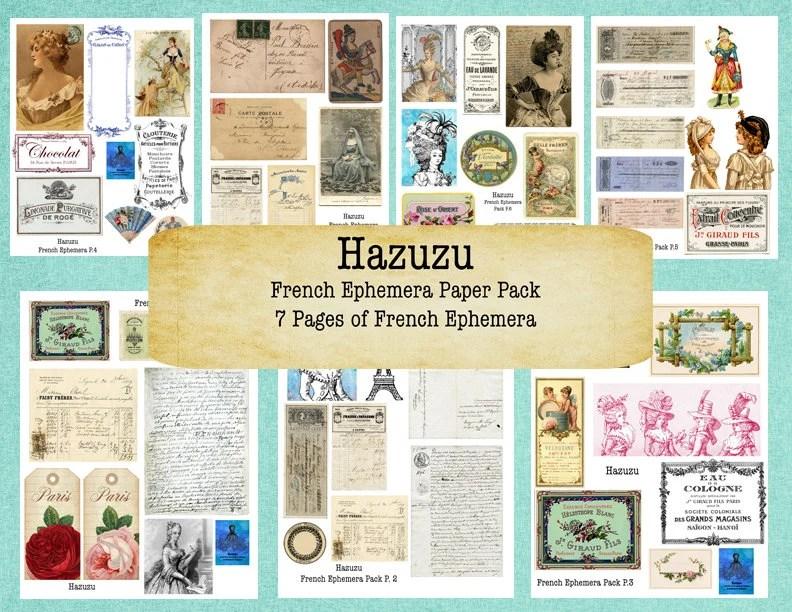 French Ephemera Printable Paper Pack Bundle Perfume Labels Etsy403