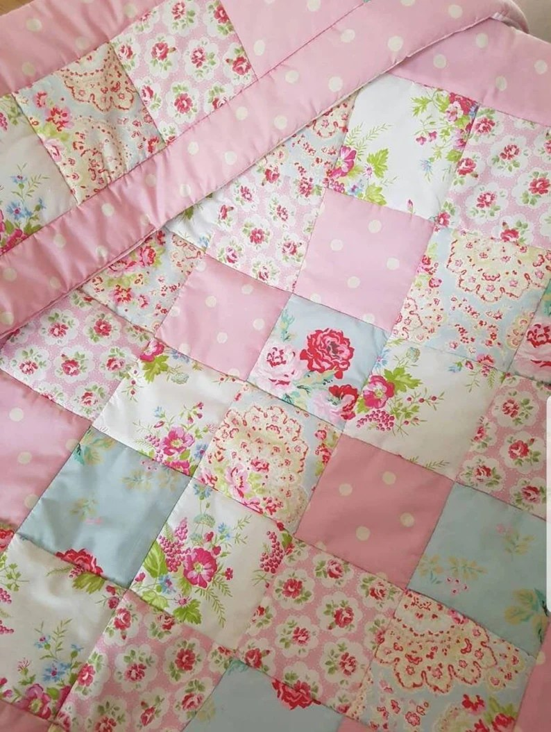 Patchwork Set Baby Patchwork Quilt And Bumper Set Baby Girl Quilt Set Cath Kidston Fabrics Handmade Shabby Chic Nursery Bedding Cot Set