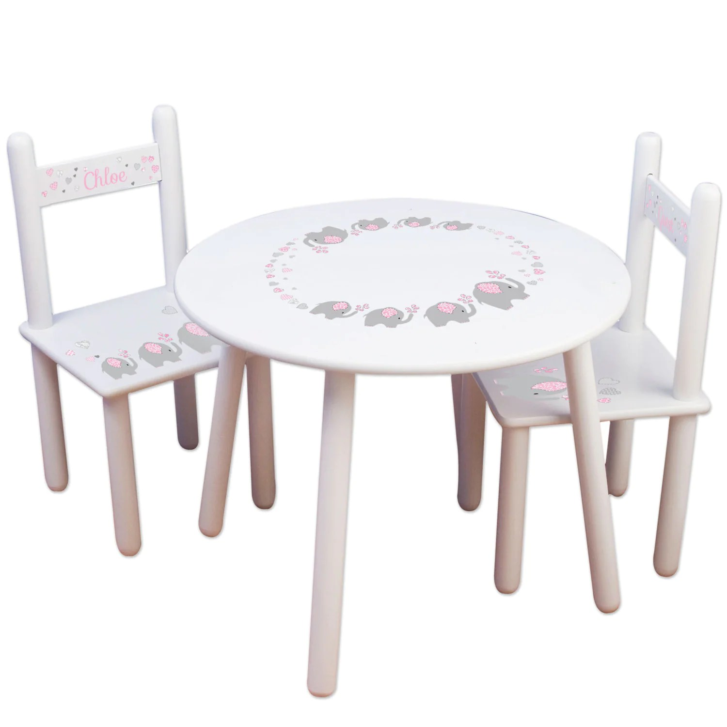 Childrens Table And Chair Set Kids Table And Chair Set Kids Furniture For Elephant Nursery Gray Bedroom Child S Round Table Personalized Chairs Elephant Decor Tableset303