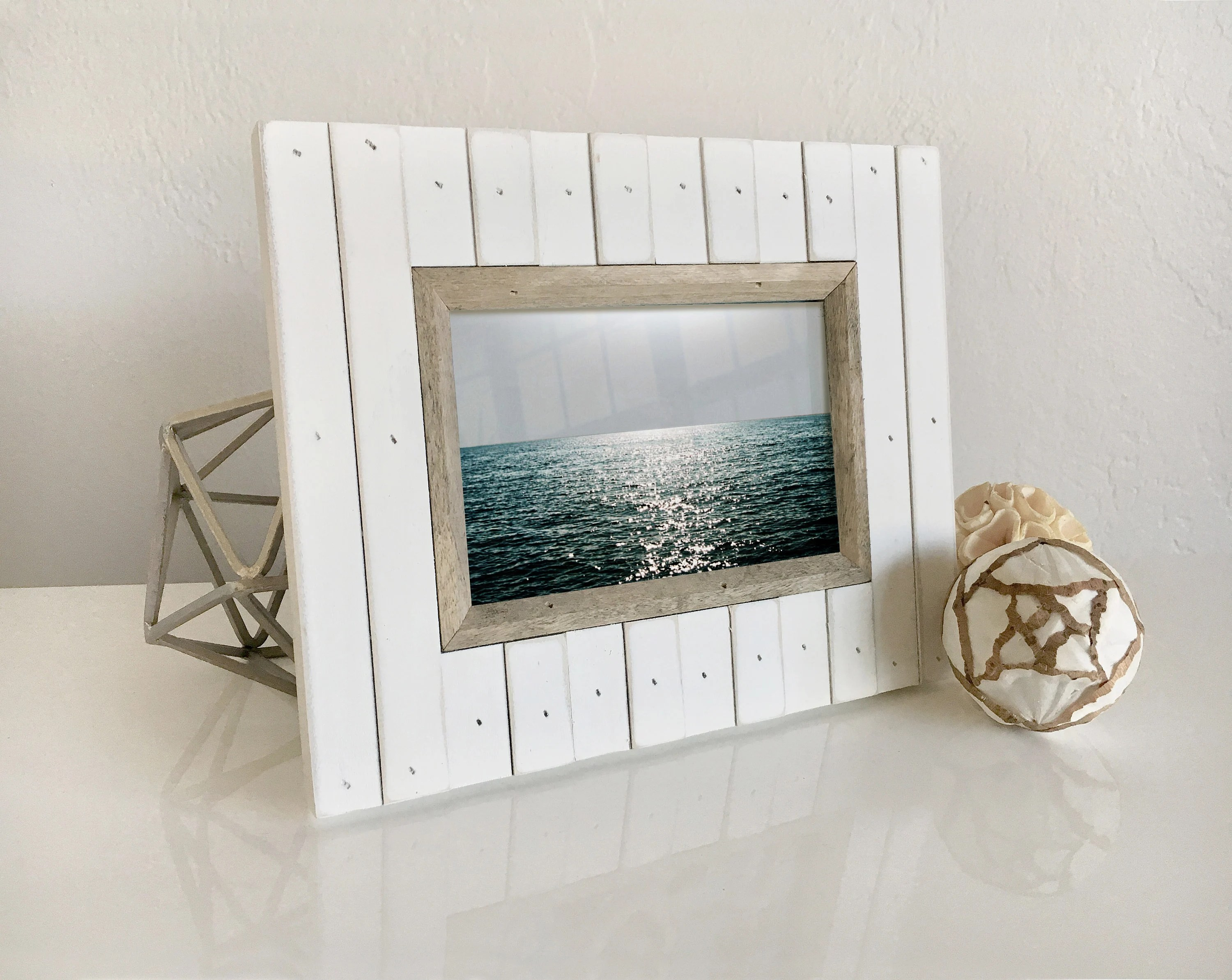 Nautical House Decor Wood Picture Frame Sea Cottage Style Nautical Beach Decor By