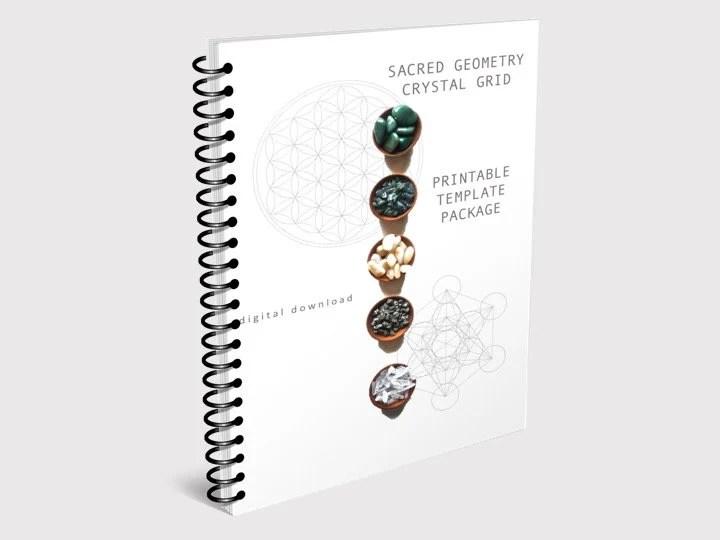PRINTABLE CRYSTAL GRID template package sacred geometry Etsy