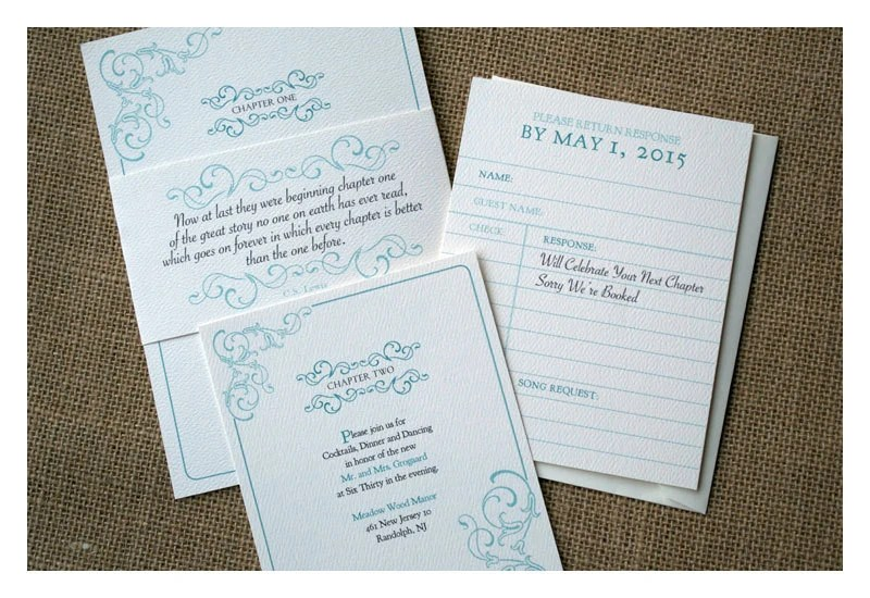 Vintage Book Theme Wedding Invitation Library Card Etsy