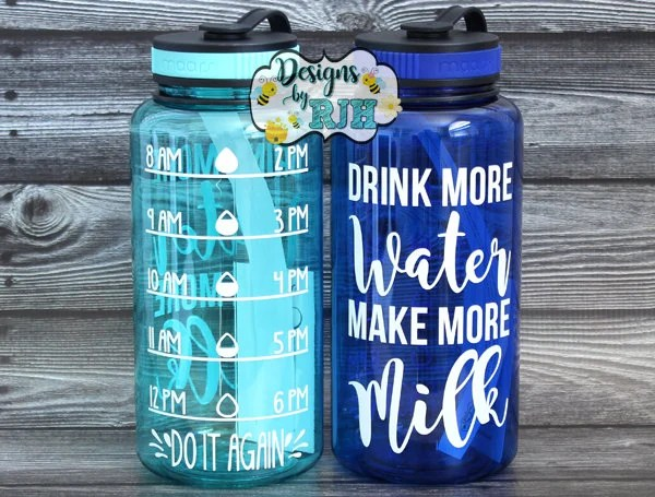 Drink More Water Make More Milk Inspirational Personalized Etsy