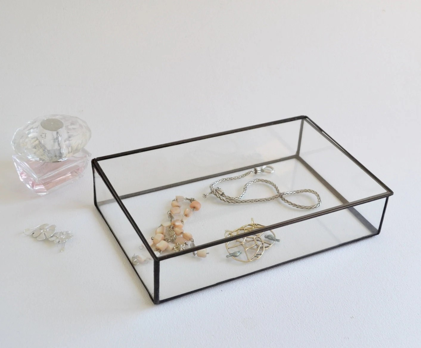 Display Glas Glass Box Glass Display Box Glass Jewelry Box Wedding Display Box Clear Glass Jewelry Box Made To Order