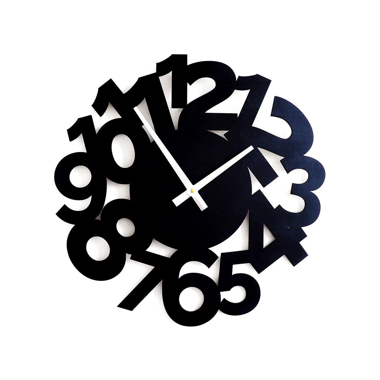 Black Wall Clock Black Wall Clock Large Wall Clock Clocks For Wall Clock For Kid Clock With Numbers Clock Cut Wood