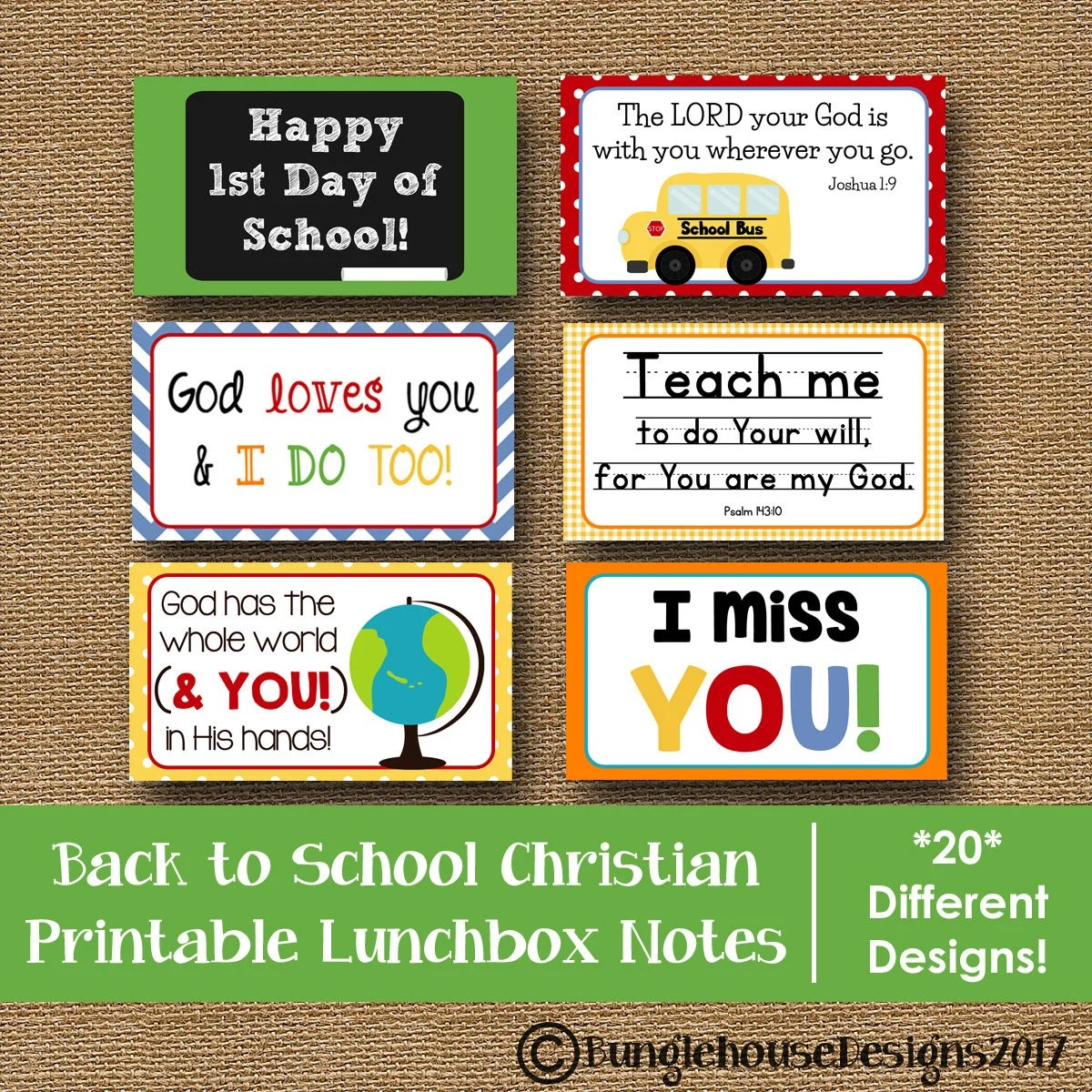 Back to School Lunch Box Notes Printable Lunchbox Notes for Etsy