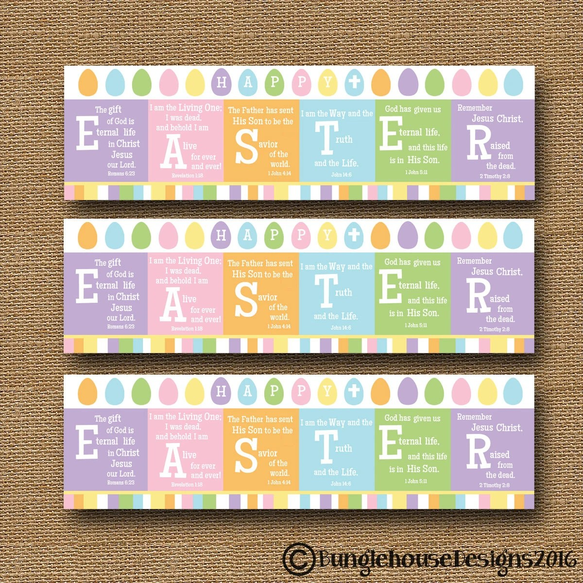 Printable Easter Bookmark Happy EASTER Scripture Bible Etsy