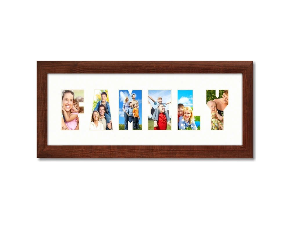 Craig Frames 6x18 Modern Brown Picture Frame with Etsy - word design frames