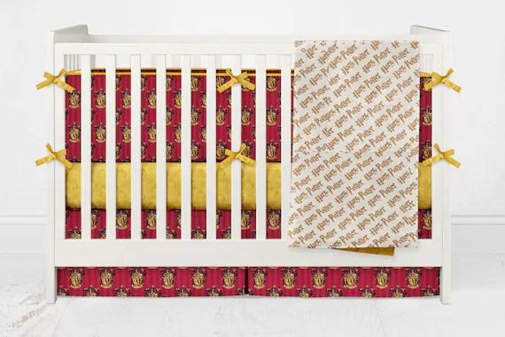 Crib Bedding Harry Potter Gryffindor Red Crimson Yellow