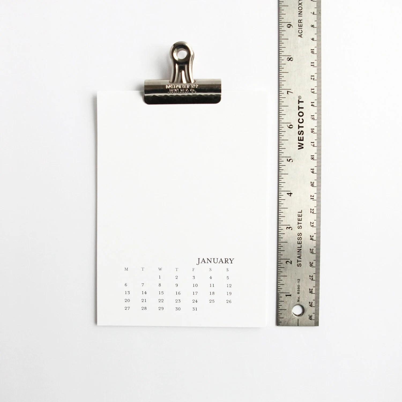 2020 Printable Calendar 5x7 Monday-Sunday Printable Monthly Etsy