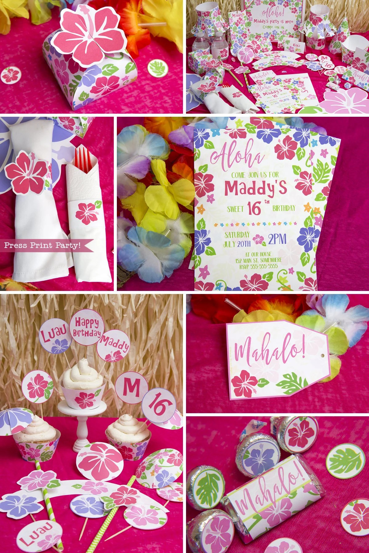 Decoration Anniversaire Hawaii Image Of Hawaiian Girl Birthday Party Supplies Hawaiian Luau