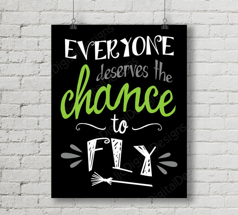 Printable Wicked Broadway Musical Lyrics Chance to Fly Word Etsy