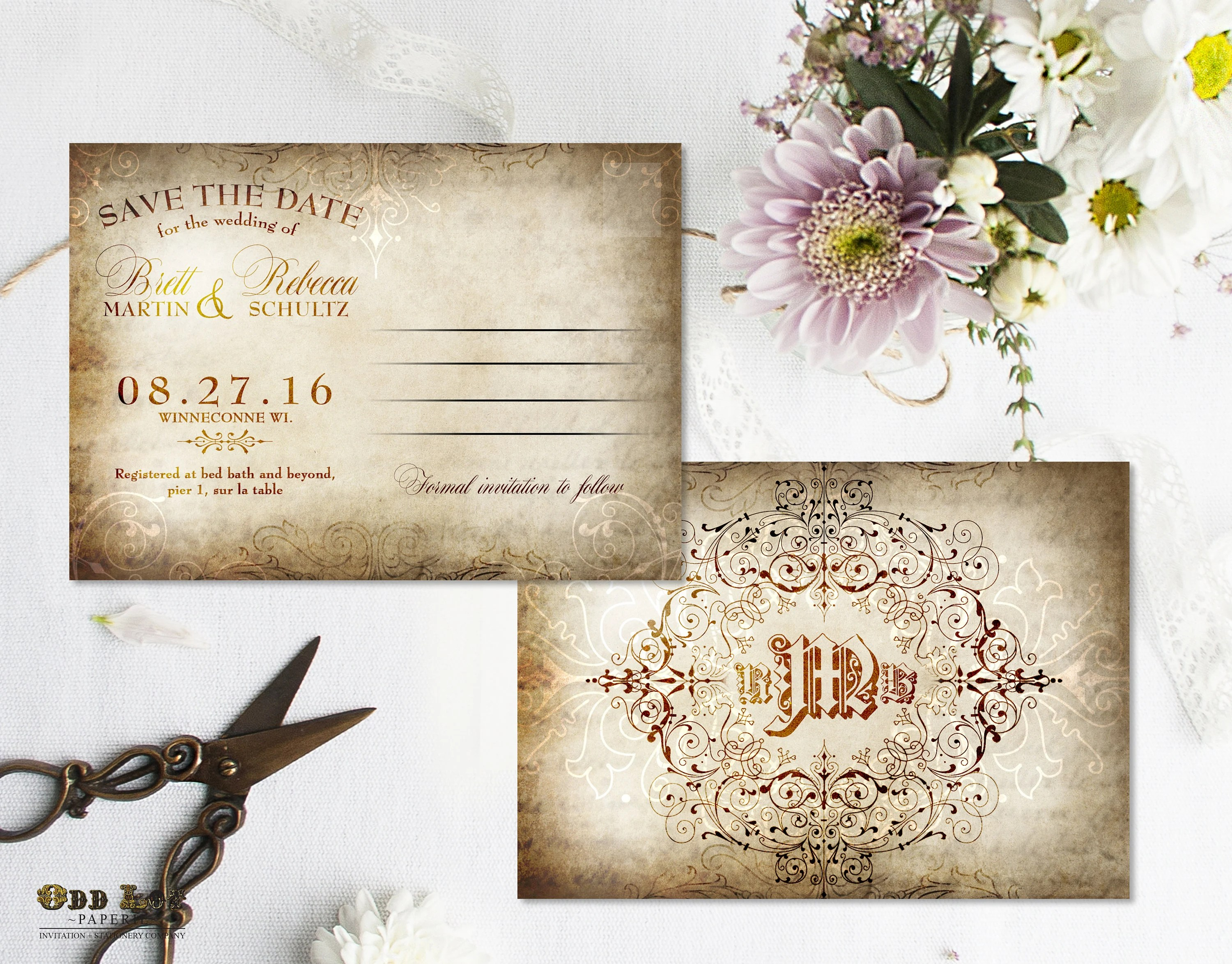 Printable Save the Date Postcard Rustic save the date Old Etsy