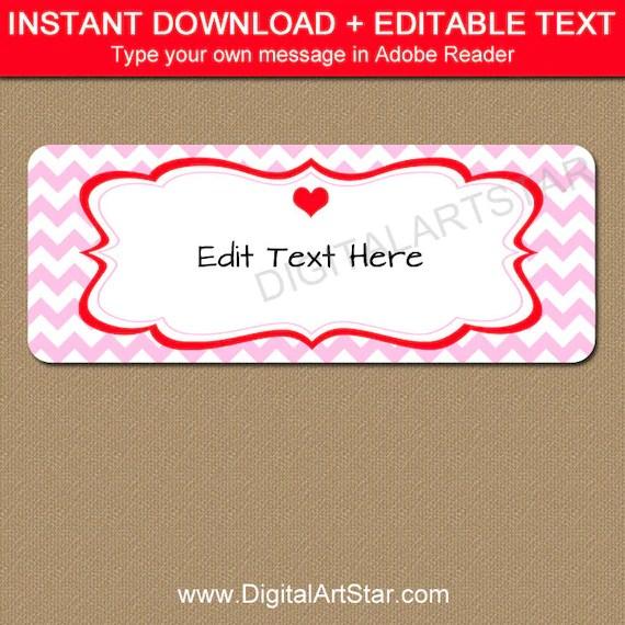 Valentines Day Return Address Labels - Printable Valentine Address