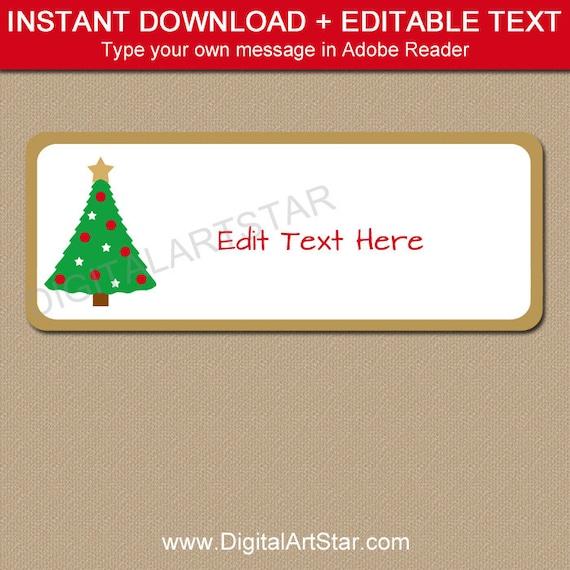 Return Address Labels Christmas Address Labels Holiday Etsy