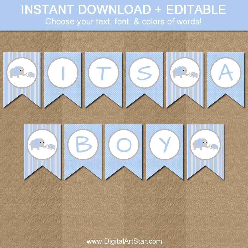 Printable Baby Shower Banner EDITABLE Baby Shower Banner Etsy