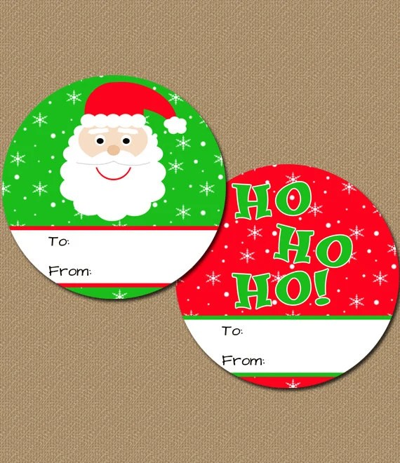 Christmas Gift Tags DIY Printable Santa Christmas Tags Etsy