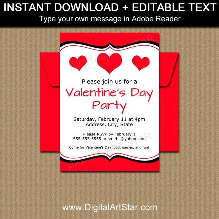Valentine Invitations - Valentines Day Invitation Template