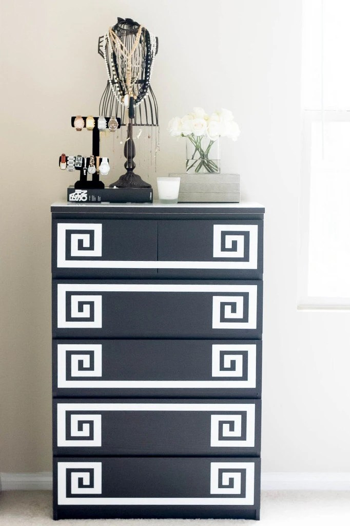Crochet Mural Ikea Decals For Ikea Furniture Hack Greek Key Decals For Malm Dresser Ikea Hack Decals