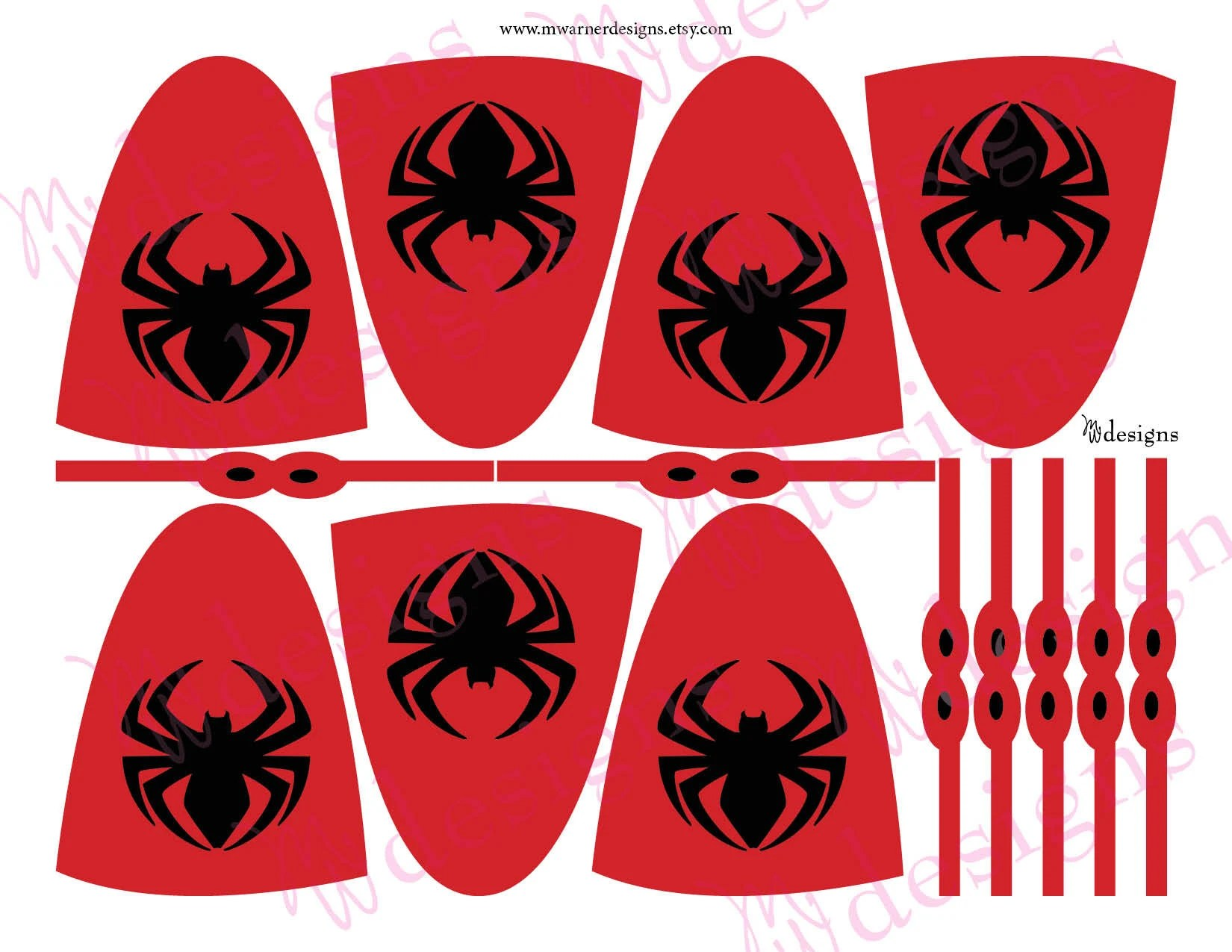 Spiderman Lollipop Capes and Masks / Superhero Party / INSTANT Etsy