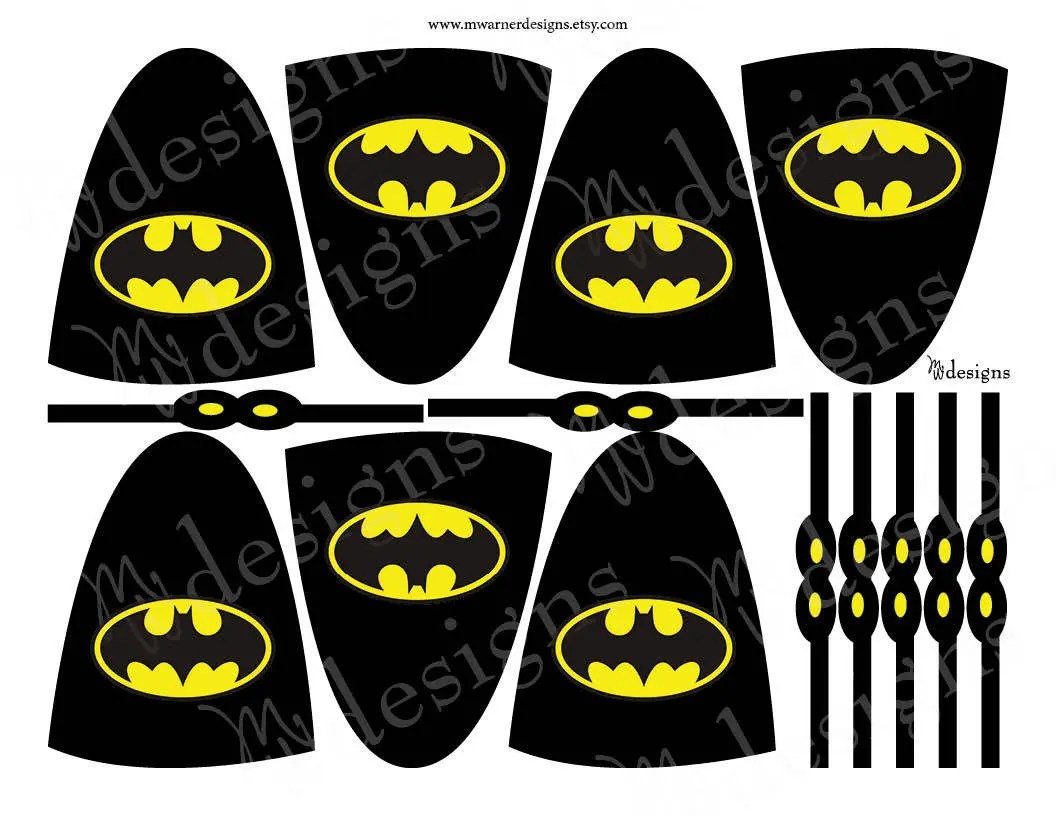 Batman Lollipop Capes and Masks / Superhero Party / INSTANT Etsy