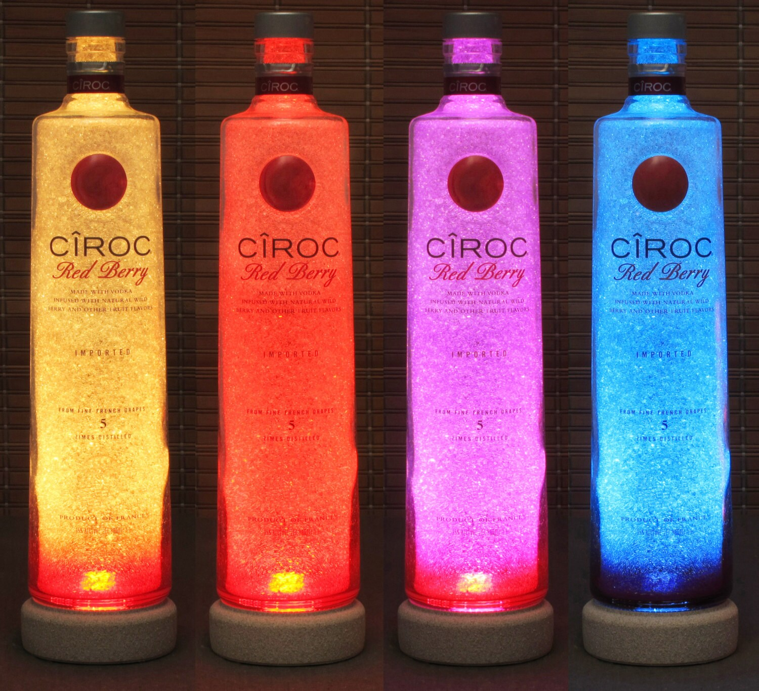 Eco Friendly Night Light Ciroc Red Berry Vodka Color Changing Remote Controlled Eco